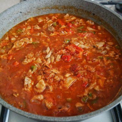 Etli domatesli bulgur pilavı