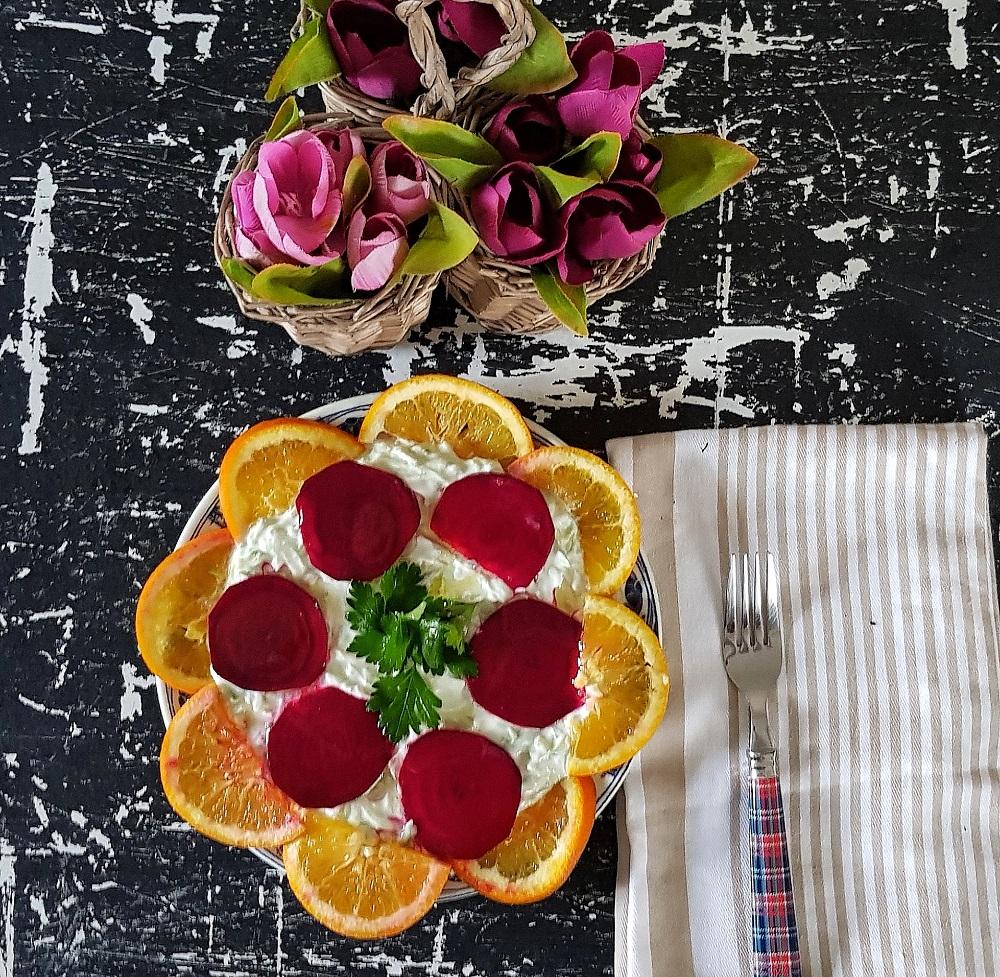 pancarlı yoğurtu kabak salatası